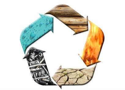 5 האלמנטים עליהם מבוססת הרפואה והפילוסופיה הסינית: אש, אדמה, עץ, מים ומתכת