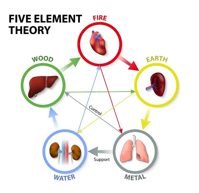 תיאורית חמשת האלמנטים והשפעת דיקור על כאבים