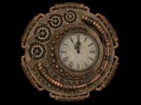 שעון עתיק בסגנון סטימפאנק